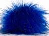 Blue Black 2 Faux Fur PomPoms