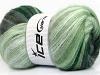 Mohair Magic White Grey Shades Green Shades