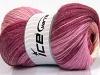 Mohair Magic Glitz Salmon Pink Shades Maroon Cream