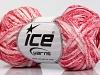 Viscose Shine Bulky White Pink