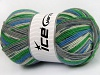 Super Sock White Grey Shades Green Blue