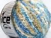 Boucle Wool Bulky Ecru Blue Shades Beige