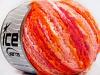 Boucle Wool Bulky White Orange Shades Fuchsia