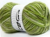 Angora Supreme Color White Green Shades