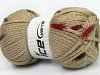 AirWool Bulky Spots Cream Camel Brown