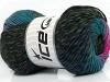 Marvelous Pure Wool Turquoise Fuchsia Black