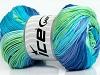 Camilla Cotton Magic Turquoise Lilac Green Blue Shades