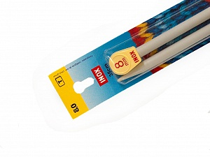 8 mm (US 11) Inox brand knitting needles. Length: 35 cm (14&). Size: 8 mm (US 11) Brand Inox, acs-112