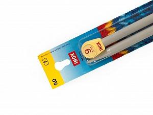 9 mm (US 13) Inox brand knitting needles. Length: 35 cm (14&). Size: 9 mm (US 13) Brand Inox, acs-113