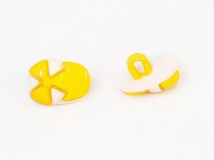 15mm long  Yellow, White, Brand Ice Yarns, acs-482