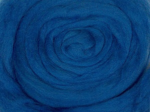 50gr-1.8m (1.76oz-1.97yards) 100% Wool felt Fiber Content 100% Wool, Brand Ice Yarns, Blue, acs-947
