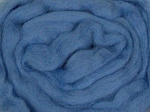 50gr-1.8m (1.76oz-1.97yards) 100% Wool felt Fiber Content 100% Wool, Yarn Thickness Other, Indigo Blue, Brand ICE, acs-948