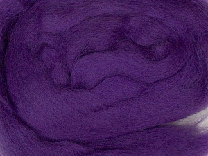 50gr-1.8m (1.76oz-1.97yards) 100% Wool felt Fiber Content 100% Wool, Purple, Brand Ice Yarns, acs-969