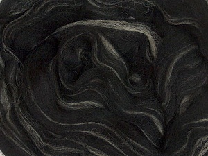 50gr-1.8m (1.76oz-1.97yards) 100% Wool felt Fiber Content 100% Wool, Yarn Thickness Other, Brand ICE, Cream, Black, acs-983