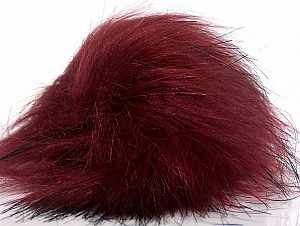 Diameter around 7cm (3&) Brand Ice Yarns, Burgundy, acs-1242