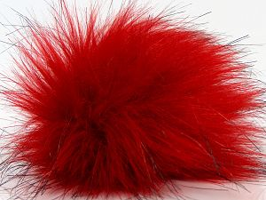 Diameter around 7cm (3&) Red, Brand Ice Yarns, Black, acs-1316