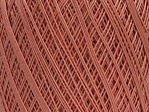Ne: 10/3 Nm: 17/3 Fiber Content 100% Mercerised Cotton, Rose Pink, Brand Ice Yarns, Yarn Thickness 1 SuperFine  Sock, Fingering, Baby, fnt2-49529