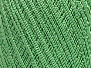 Ne: 10/3 Nm: 17/3 Fiber Content 100% Mercerised Cotton, Mint Green, Brand Ice Yarns, Yarn Thickness 1 SuperFine  Sock, Fingering, Baby, fnt2-49531