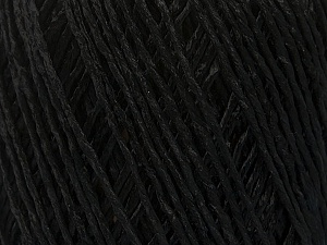 Fiber Content 100% Viscose, Brand Ice Yarns, Black, Yarn Thickness 3 Light  DK, Light, Worsted, fnt2-49536