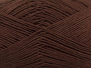 Ne: 8/4. Nm 14/4 Fiber Content 100% Mercerised Cotton, Brand Ice Yarns, Brown, Yarn Thickness 2 Fine Sport, Baby, fnt2-49595
