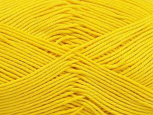Ne: 8/4. Nm 14/4 Fiber Content 100% Mercerised Cotton, Yellow, Brand Ice Yarns, Yarn Thickness 2 Fine Sport, Baby, fnt2-49601