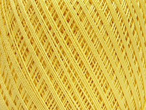 Ne: 10/3 Nm: 17/3 Fiber Content 100% Mercerised Cotton, Light Yellow, Brand Ice Yarns, Yarn Thickness 1 SuperFine  Sock, Fingering, Baby, fnt2-49851