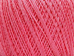 Ne: 10/3 +600d. Viscose. Nm: 17/3 Fiber Content 72% Mercerised Cotton, 28% Viscose, Pink, Brand Ice Yarns, Yarn Thickness 1 SuperFine  Sock, Fingering, Baby, fnt2-49874