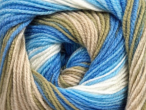 . Fiber Content 100% Baby Acrylic, White, Brand Ice Yarns, Blue Shades, Beige, Yarn Thickness 2 Fine  Sport, Baby, fnt2-49997