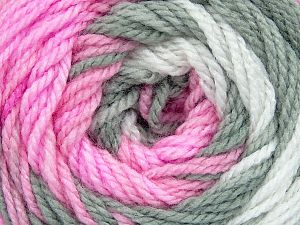 . . Fiber Content 100% Baby Acrylic, White, Pink, Brand ICE, Grey, Yarn Thickness 2 Fine  Sport, Baby, fnt2-50002