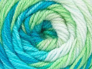 . . Fiber Content 100% Baby Acrylic, White, Brand ICE, Green, Blue Shades, Yarn Thickness 2 Fine  Sport, Baby, fnt2-50005
