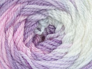 . Fiber Content 100% Baby Acrylic, White, Pink, Lilac Shades, Brand Ice Yarns, Yarn Thickness 2 Fine Sport, Baby, fnt2-50006