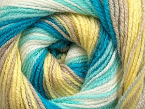 . Fiber Content 100% Baby Acrylic, Yellow, White, Turquoise, Mint Green, Brand Ice Yarns, Beige, Yarn Thickness 2 Fine  Sport, Baby, fnt2-50008