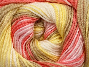. Fiber Content 100% Baby Acrylic, Yellow, White, Salmon, Pink, Brand Ice Yarns, Camel, Yarn Thickness 2 Fine  Sport, Baby, fnt2-50009