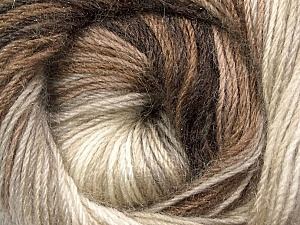 Fiber Content 60% Premium Acrylic, 20% Wool, 20% Mohair, Brand Ice Yarns, Cream, Brown Shades, Yarn Thickness 2 Fine  Sport, Baby, fnt2-50293