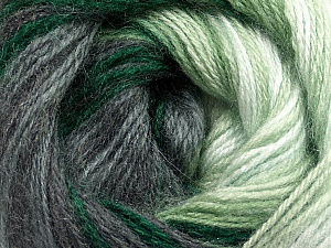 Fiber Content 60% Premium Acrylic, 20% Wool, 20% Mohair, White, Brand Ice Yarns, Grey Shades, Green Shades, Yarn Thickness 2 Fine  Sport, Baby, fnt2-50298