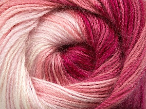 Fiber Content 60% Premium Acrylic, 20% Mohair, 20% Wool, White, Pink Shades, Brand Ice Yarns, Yarn Thickness 2 Fine  Sport, Baby, fnt2-50301