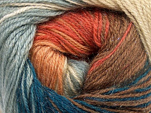Fiber Content 57% Premium Acrylic, 3% Metallic Lurex, 20% Mohair, 20% Wool, Teal, Salmon, Light Blue, Brand Ice Yarns, Camel, Yarn Thickness 2 Fine  Sport, Baby, fnt2-50320