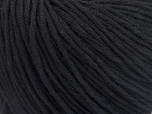Fiber Content 60% Bamboo, 40% Cotton, Brand Ice Yarns, Black, Yarn Thickness 3 Light  DK, Light, Worsted, fnt2-50532