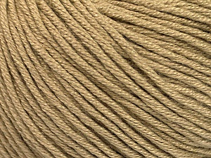 Fiber Content 60% Bamboo, 40% Cotton, Light Camel, Brand Ice Yarns, Yarn Thickness 3 Light  DK, Light, Worsted, fnt2-50536