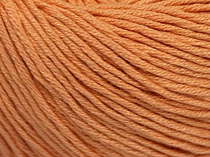Fiber Content 60% Bamboo, 40% Cotton, Light Salmon, Brand Ice Yarns, Yarn Thickness 3 Light  DK, Light, Worsted, fnt2-50538