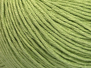 Fiber Content 60% Bamboo, 40% Cotton, Light Green, Brand Ice Yarns, Yarn Thickness 3 Light  DK, Light, Worsted, fnt2-50543