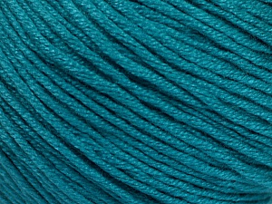 Fiber Content 60% Bamboo, 40% Cotton, Teal, Brand Ice Yarns, Yarn Thickness 3 Light  DK, Light, Worsted, fnt2-50545