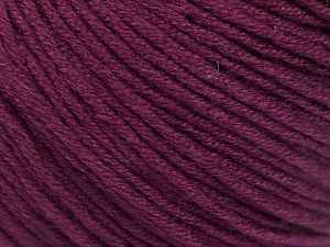 Fiber Content 60% Bamboo, 40% Cotton, Maroon, Brand Ice Yarns, Yarn Thickness 3 Light  DK, Light, Worsted, fnt2-50553