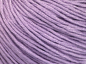 Fiber Content 60% Bamboo, 40% Cotton, Light Lilac, Brand Ice Yarns, Yarn Thickness 3 Light  DK, Light, Worsted, fnt2-50555