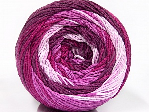 Fiber Content 100% Cotton, Pink Shades, Maroon, Lilac, Brand Ice Yarns, Yarn Thickness 3 Light  DK, Light, Worsted, fnt2-50557