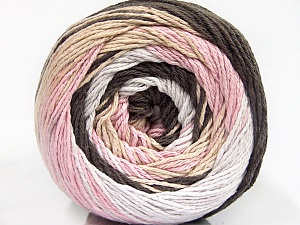 Fiber Content 100% Cotton, White, Pink, Brand Ice Yarns, Brown Shades, Yarn Thickness 3 Light  DK, Light, Worsted, fnt2-50560