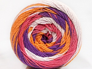Fiber Content 100% Cotton, White, Salmon, Purple, Orange, Brand Ice Yarns, Yarn Thickness 3 Light  DK, Light, Worsted, fnt2-50562