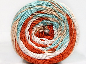 Fiber Content 100% Cotton, White, Mint Green, Brand Ice Yarns, Copper, Cafe Latte, Yarn Thickness 3 Light  DK, Light, Worsted, fnt2-50563