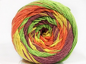 Fiber Content 100% Cotton, Yellow, Orange, Maroon, Brand Ice Yarns, Green, Yarn Thickness 3 Light  DK, Light, Worsted, fnt2-50565