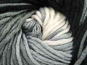 Fiber Content 100% Acrylic, White, Brand ICE, Grey, Black, Yarn Thickness 5 Bulky  Chunky, Craft, Rug, fnt2-50838